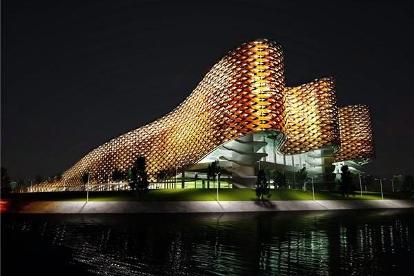 Budapest - nouveau Centre aquatique - vue extérieure