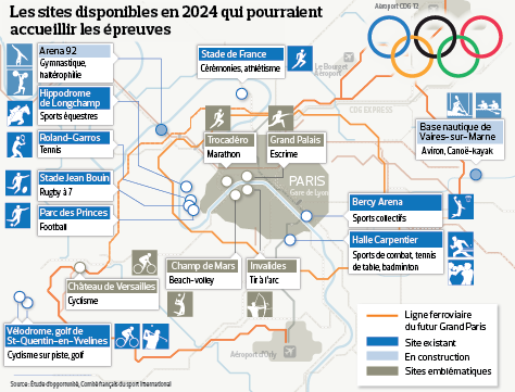 Paris 2024 - Sites Ile-de-France