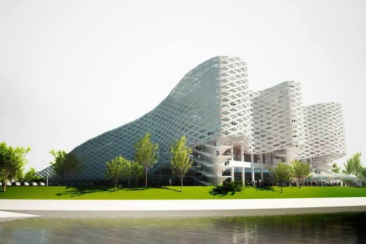 Visuel du futur Centre Aquatique de Budapest (Crédits - Fédération Hongroise de Natation)