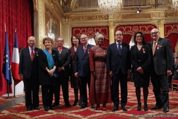 François Hollande - remise de décorations