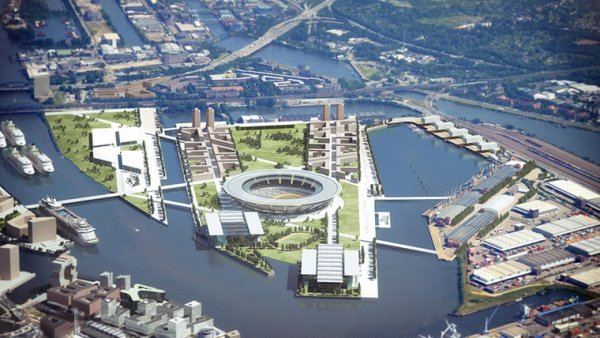 Hambourg 2024 - implantation du Stade Olympique