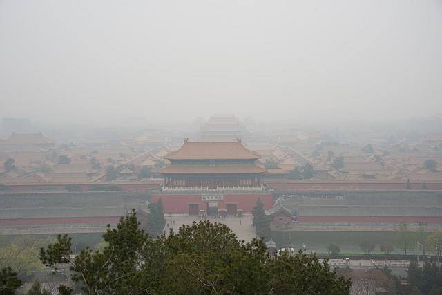 Pékin 2022 - pollution au smog - Cité interdite