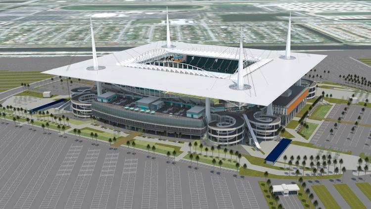 Sun Life Stadium de Miami - vue extérieure