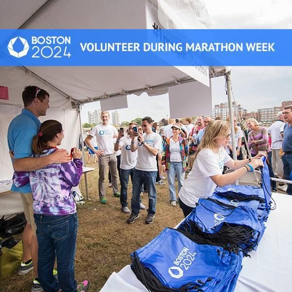 Le Comité de Candidature de Boston 2024 avait déjà mobilisé des dizaines de volontaires en marge du Marathon de Boston, événement majeur pour la région (Crédits - Boston 2024)