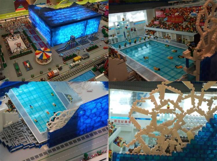 Cube d'eau - LEGO - vue intérieure