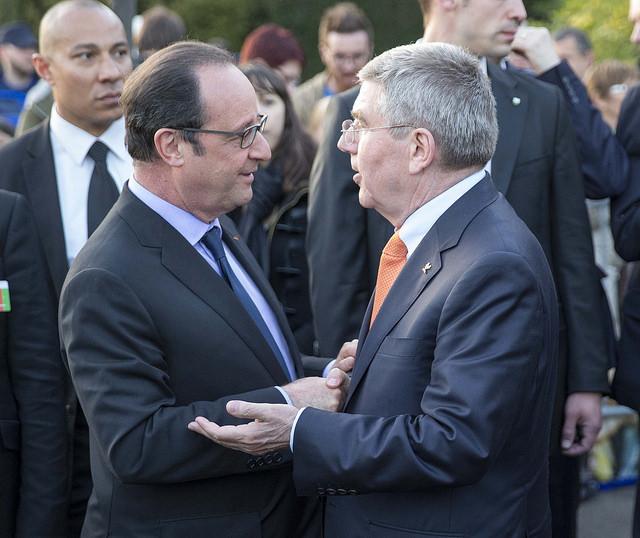 François Hollande et Thomas Bach - Lausanne