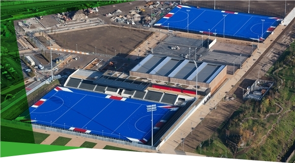 Lee Valley Hockey and Tennis Centre - vue aérienne