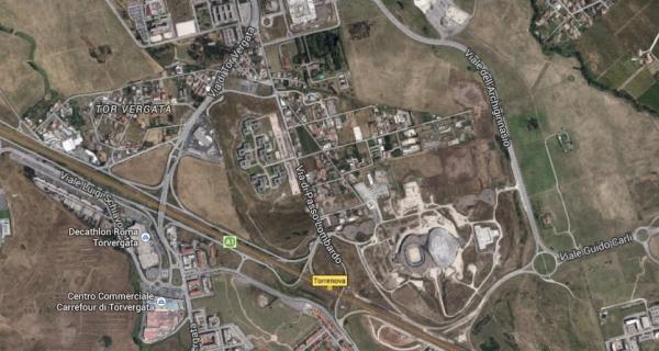 Vue aérienne du quartier de Tor Vergata (Crédits - Google Map)