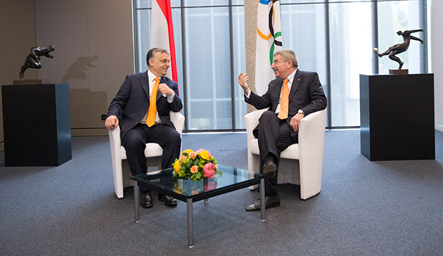 Viktor Orban et Thomas Bach - Lausanne