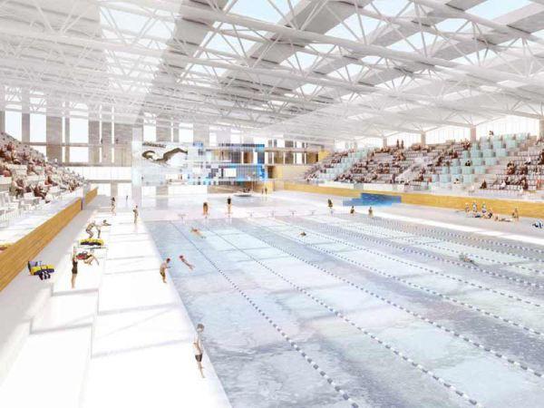 Visuel du projet de Centre Aquatique d'Aubervilliers (Crédits - Cabinet d'architectes Chaix & Morel)