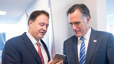 Stephen Pagliuca et Mitt Romney