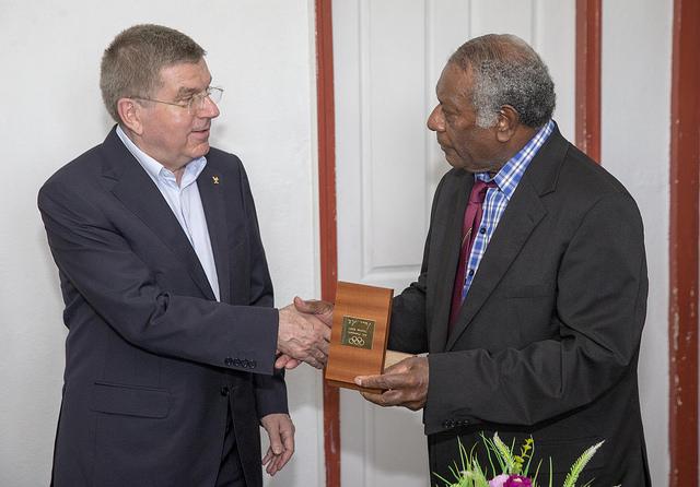 Thomas Bach et Baldwin Lonsdale - Vanuatu
