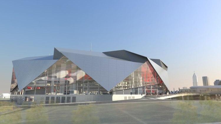 Visuel extérieur du futur Stade d'Atlanta (Crédits - New Atlanta Stadium)