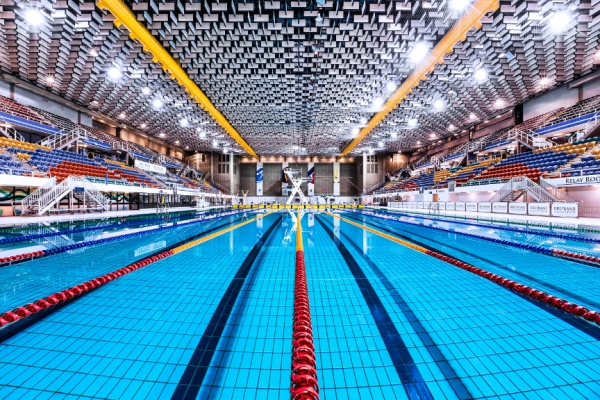Vue intérieure du Centre Aquatique de Brisbane (Crédits - Australian Freediving Association)