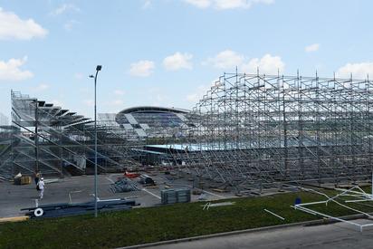 Vue des gradins et du bassin de la Water-Polo Arena (Crédits - Kazan 2015)