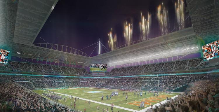 Visuel du projet de rénovation du Sun Life Stadium (Crédits - New Miami Stadium)