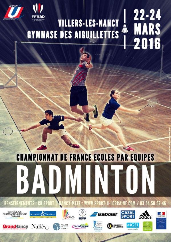 Affiche Badminton