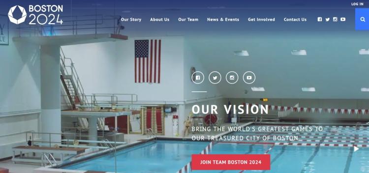Page d'accueil du nouveau site de la candidature (Crédits - Capture d'écran Sport & Société)