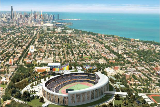 Visuel du projet de Stade Olympique pour les JO 2016 (Crédits - Chicago 2016)