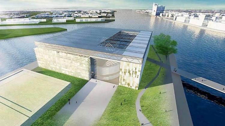 Esquisse de la Halle Olympique de Hambourg 2024 (Crédits - KCAP, Arup, Vogt, Kunst + Herbert  GMP, WES, Drees & Sommer)