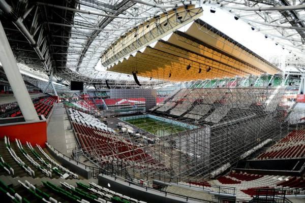 Vue intérieure de l'Arena Stadium entièrement reconfigurée pour les Mondiaux 2015 de natation (Crédits - FINA / ANO Executive Directorate for Sport Projects).