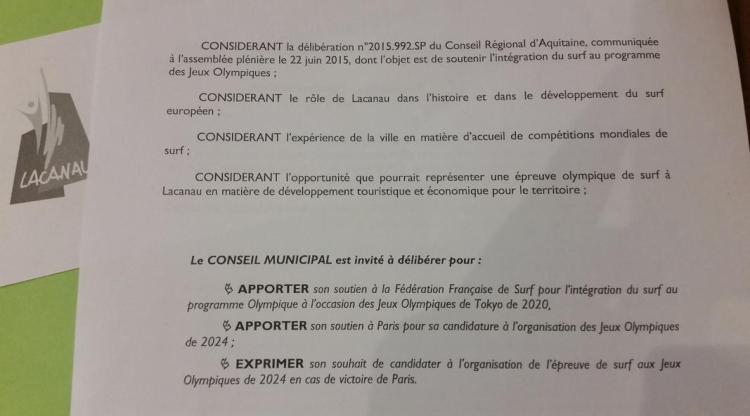 Document envoyé via Twitter, par la Ville de Lacanau