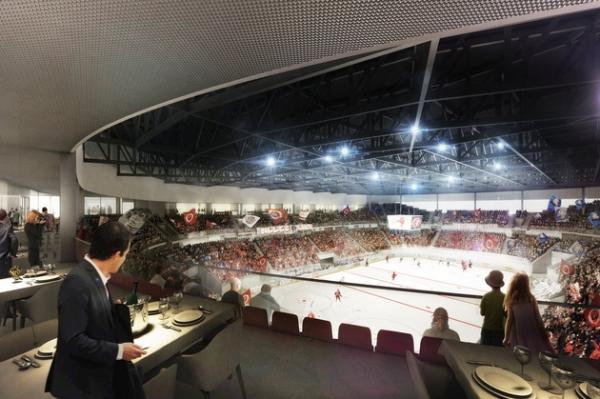 Visuel de la future patinoire de Malley (Crédits - Lausanne 2020)