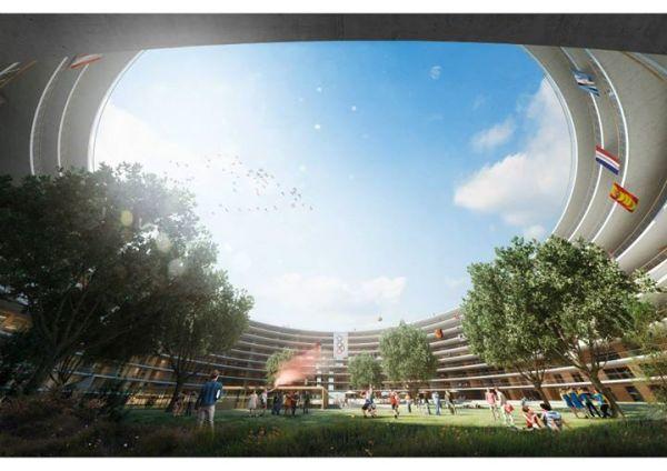 Visuel du futur Village Olympique de Lausanne (Crédits - Lausanne 2020)