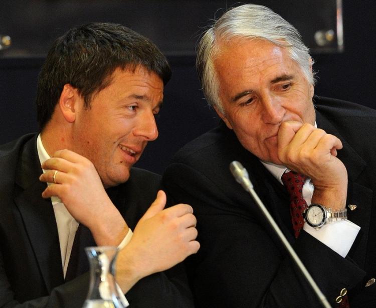 Matteo Renzi et Giovanni Malago (Crédits - CONI / ANSA)