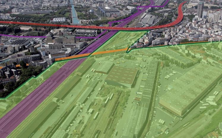 Localisation envisagée pour le futur écoquartier (Crédits - Mairie de Pantin)