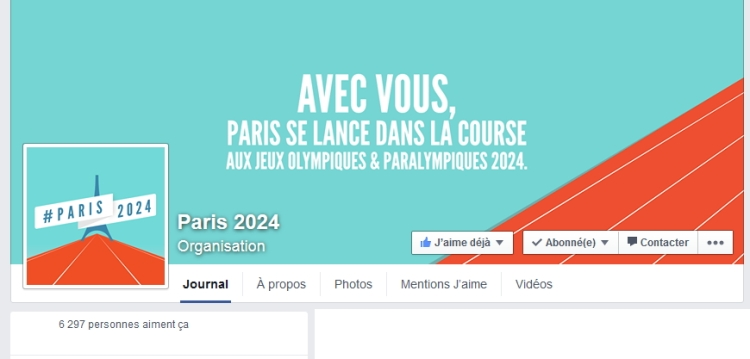 Page officielle sur Facebook (Crédits - Capture d'écran / Sport & Société)