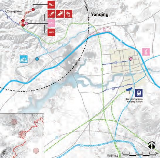 Carte des sites de Yanqing (Crédits - Pékin 2022)