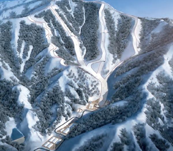 Visuel du Centre de ski alpin (Crédits - Pékin 2022)