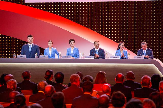 Une partie de la délégation chinoise (Crédits - CIO / Ubald Rutar)