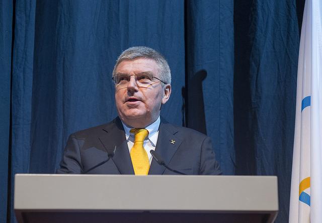 Discours de Thomas Bach lors de l'ouverture de la 128e Session du CIO (Crédits - CIO / Ian Jones)