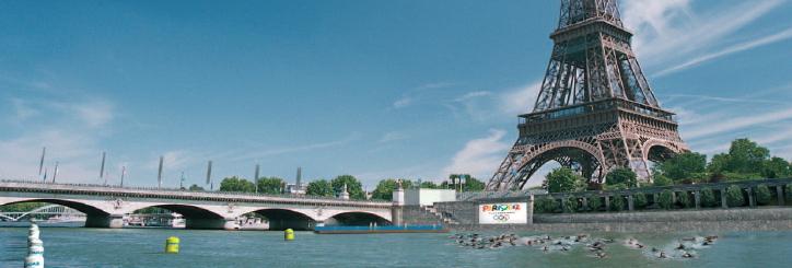 La candidature de Paris 2012 proposait déjà l'organisation du triathlon devant la Tour Eiffel (Crédits - Paris 2012)