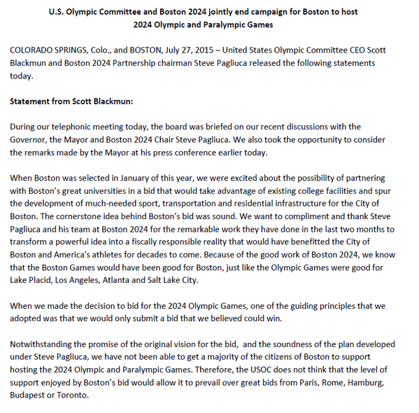 USOC - Boston 2024 - retrait