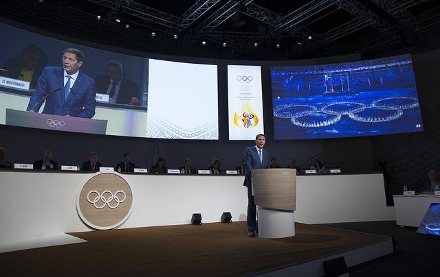 Alexander Zhukov lors de la 128e Session du CIO (Crédits - CIO / Ian Jones)