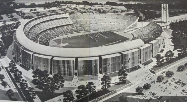 Projet de Stade Olympique pour Détroit 1968
