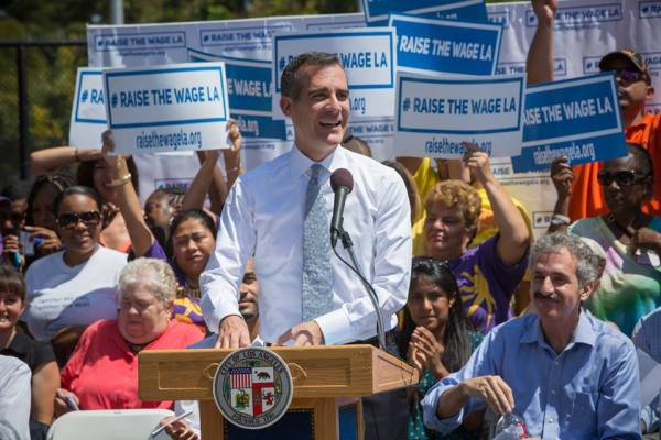 Eric Garcetti, Maire de Los Angeles (Crédits - Page officielle Facebook)