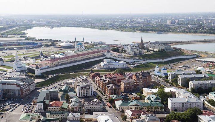 Vue aérienne de la ville de Kazan (Crédits - Kazan 2015)