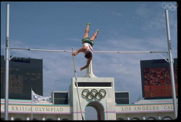 Peter Hadfield, décathlonien australien, lors des Jeux Olympiques de Los Angeles 1984 (Crédits - CIO)