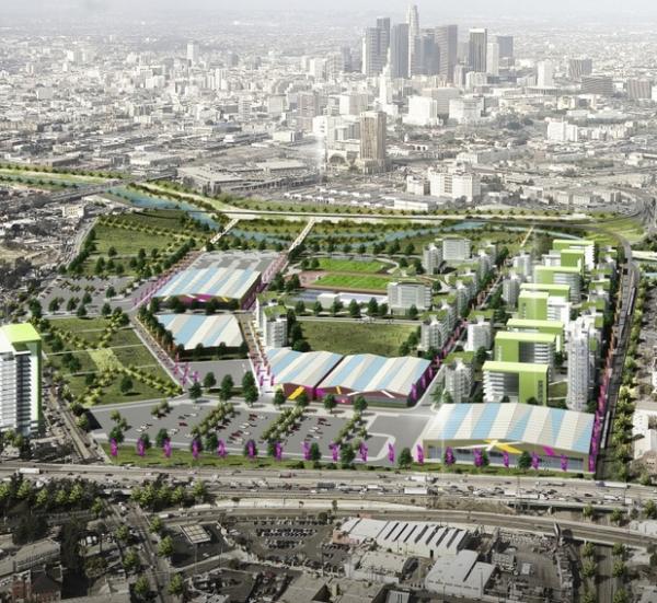 Visuel du Village Olympique initialement proposé par la candidature de Los Angeles (Crédits - LA 2024)