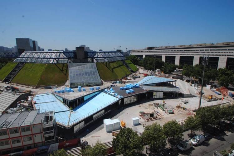 Vue extérieure du chantier, en juin 2015 (Crédits - Bercy Arena Paris)