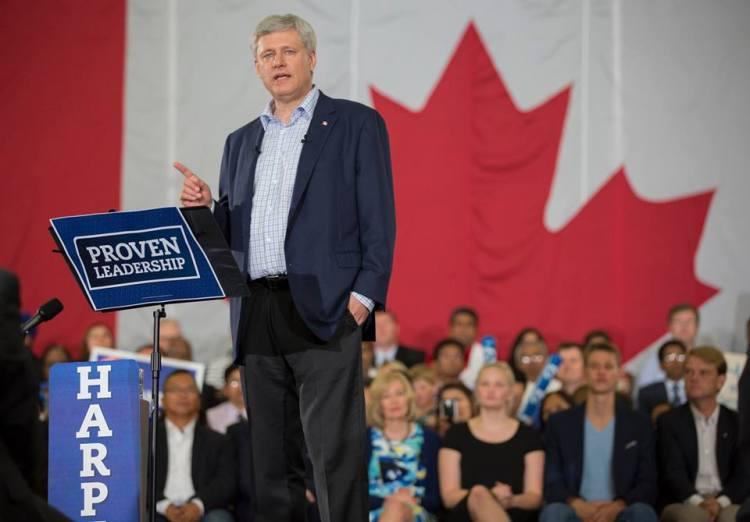 Stephen Harper, actuel Premier Ministre du Canada et candidat à sa propre réélection (Crédits - Page officielle Facebook)