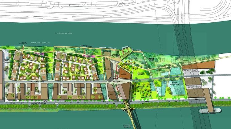 Plan de l'écoquartier de L'Île-Saint-Denis (Crédits - Plaine Commune)