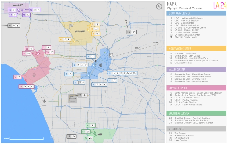 Concept olympique de Los Angeles (Crédits - Los Angeles 2024)