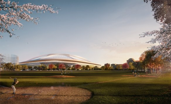 Visuel du Nouveau Stade National du Japon (Crédits - Zaha Hadid Architects)