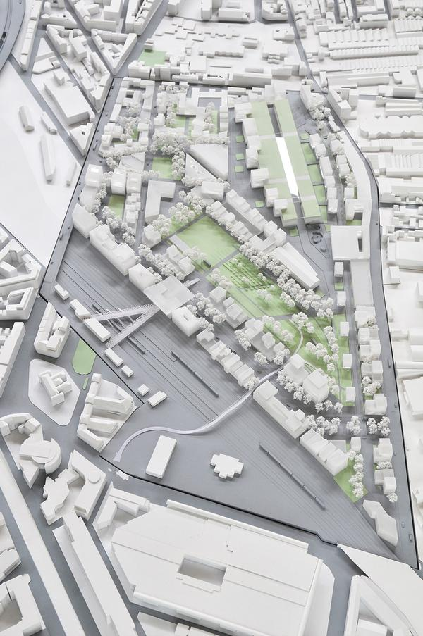 Maquette de l'emplacement prévu pour l'implantation du Village Olympique (Crédits - Ville de Pantin)
