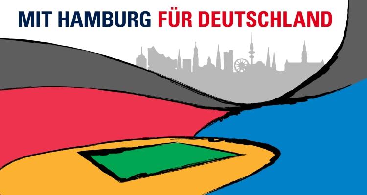 """""""Avec Hambourg pour l'Allemagne"""" (Crédits - Hambourg 2024)"""